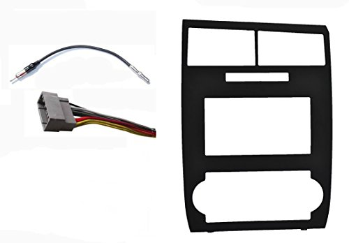 Radio Stereo Dash Install Double Din GPS Navigation Black Bezel Assembly Installation Fitted For Dodge Charger 2006 2007 Dodge Magnum 2005 2006 -