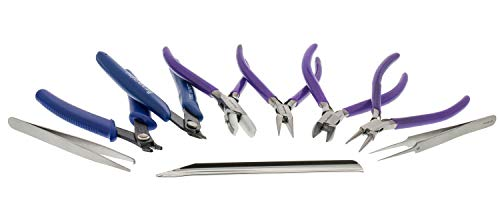 Beadsmith 9-Piece Deluxe Jewelry Pliers Tool Kit with Case (PL9SET)