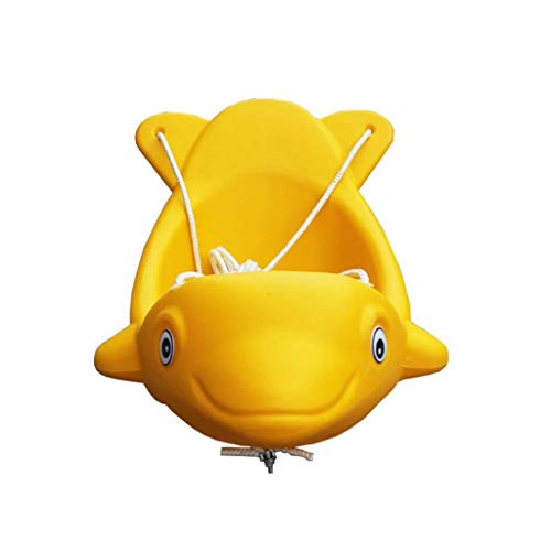 (TD B3256 Children's Swing Indoor and Outdoor Lifts Dolphin Outdoor Rocking Chair Thicken Plastic Flying Fish Seat)