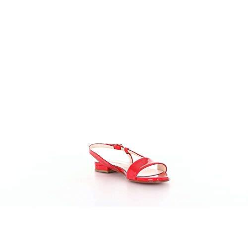Sandalias 113vernicered Rojo Mujer Albano Cuero 6If44q