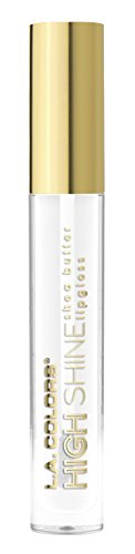 - L.A. Colors High Shine Shea Butter Lip Gloss, Clear, 0.14 Ounce