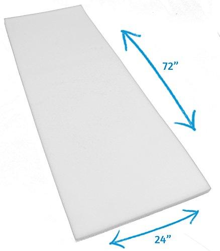White Polyurethane Foam Sheet for Upholstery; Large 1