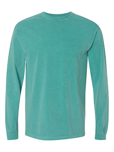 Comfort Colors Ringspun Garment-Dyed Long-Sleeve T-Shirt (C6014)- SEAFOAM, L