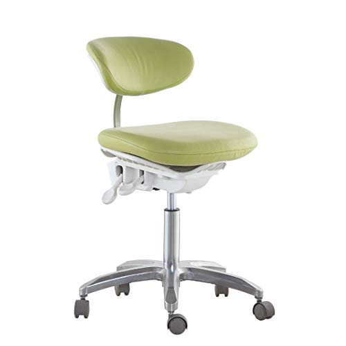 Global-Dental Dynamic Doctor Chair with Foot Base Dental Office Chair Multi-Function PU Fabric ()