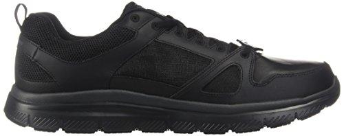 Skechers Voor Het Werk Van Mensen Flex Voordeel Antislip Oxford Sneaker Zwart