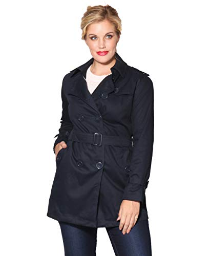 Double Breasted Trench Mac Coat (Size UK 14/ US 10) for sale  Delivered anywhere in USA