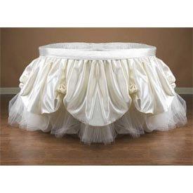 Babykidsbargains Little Miss Poof Bassinet Liner Skirt, 13''x29''