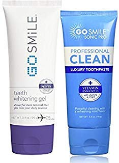 Go Smile Teeth Whitening Gel (3.4) & Go Smile Luxury Toothpaste, Mint (3.4oz)