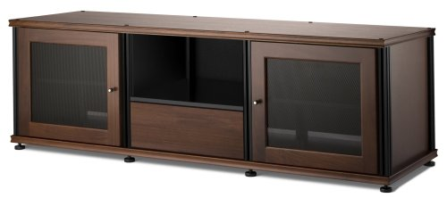 Synergy Media - Salamander Synergy 236 A/V Cabinet w/ Two Doors & Media Drawer (Walnut/Black)