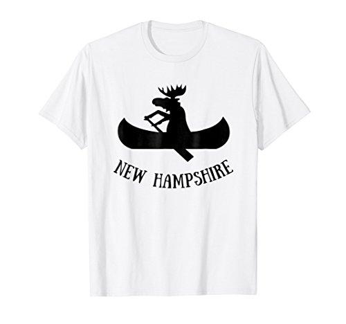New Hampshire t-shirt   Moose Canoe Vacation t shirt