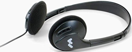 Williams Sound HED 021 Deluxe Folding Headphones, Adult size, Mild and low gain hearing loss rating, 100 mW Max Power Input, Sensitivity 110 dB @ 1kHz, 30mm Driver Size