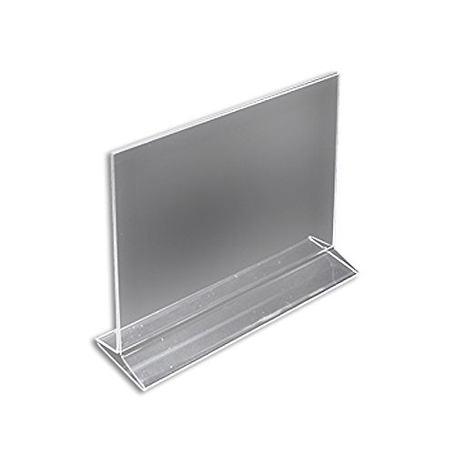 Azar 142712 11-Inch Width by 8.5-Inch Height Horizontal Top Load Acrylic Sign Holder, 10-Pack