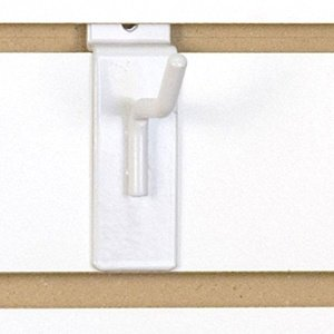 1'' White Slatwall Hooks (Box of 25)