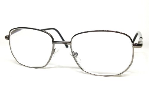High Power Full Frame Reading Glasses with Metal Frame by See Clearly Readers (4.50, Gun Metal)