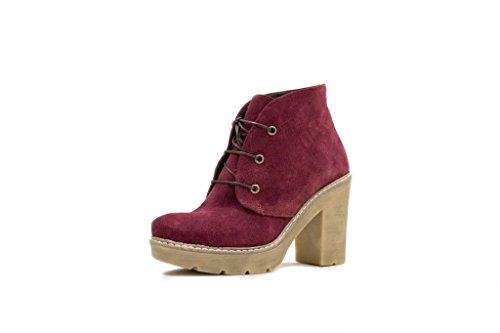 N & K Londen Aella Schoenen, Dames Boots Bordeaux Kleur