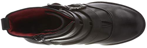 Mujer Buffalo Para 01 Leather 00 Negro Botines Nappa Wax black rwq6IXr