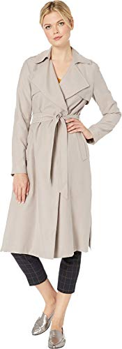 Cole Haan Women's Drapey Rain Loose Belted Trench Coat Sand X-Large