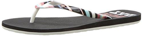 Roxy Womens Wear (Roxy Women's Portofino Sandals Flip-Flop, Black Graphic, 10 M US)