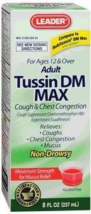 Leader Tussin DM Max Liquid Formula for Adults, 8 oz. 4259149 Qty 1