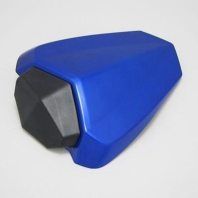 Motorcycle Blue Rear Passenger Pillion Seat Cowl Pad Hard ABS Motor Fairing Tail Cover for 2009-2014 Yamaha YZF 1000 R1 2010 2011 2012 2013 09-14 Raven TeamLimited Edition World GP 50th Anniversary