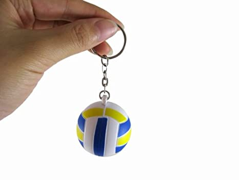 Amazon.com: New Cute Blue Rubber Mini Voleibol Shaped Key ...