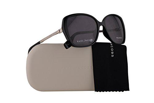 Marc Jacobs Marc 304/S Sunglasses Black w/Polarized Grey Lens 56mm 807M9 Marc 304S Marc304S (Authentic Marc Jacobs Eyewear Sunglasses)
