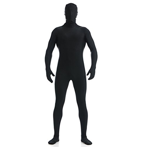 DreamHigh DH Men's Lycra Spandex Full Body Costume Zentai Suit (XL Black) -