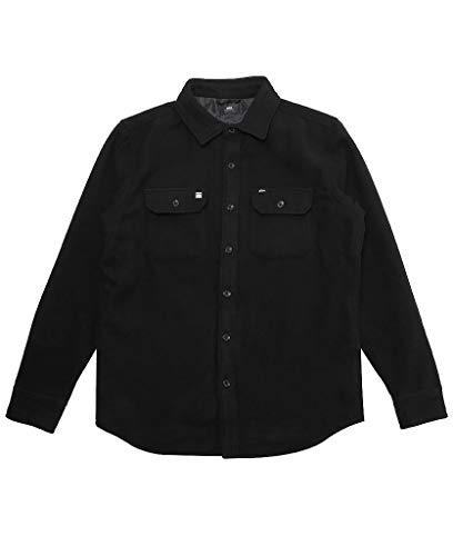 Obey Men's The Jack Woven Shirt, Black Large ()