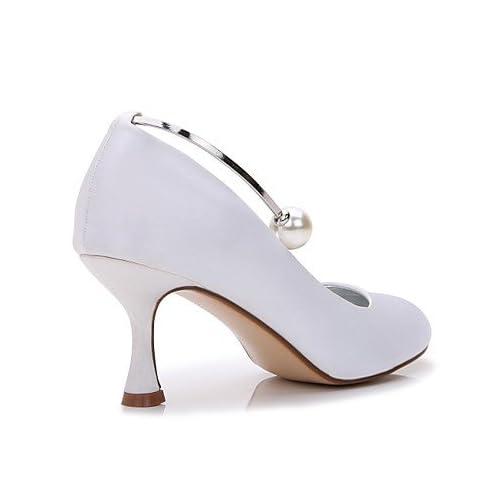 decbe20bdb El mejor regalo para mujer y madre Mujer Zapatos Satén Primavera Verano  Confort Pump Básico Zapatos ...