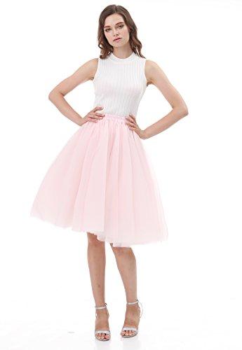 50 Tulle Femme Annes Rose Jupe Vintage Tutu Jupon CoutureBridal Courte 1Ix0T5qO