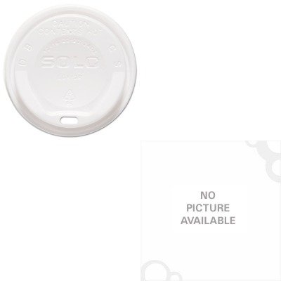 KITSLOLGXW2SLOX16NB - Value Kit - Solo Gourmet Hot Cup Lids (SLOLGXW2) and Solo Trophy Plus Dual Temperature Cups (SLOX16NB)