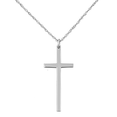 Crystal Sterling Silver Crucifix - 7