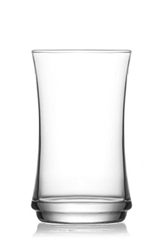 Pasabahce LUN358FGB, 12 1/4 oz Long Drink Water Glass, Highball Iced Beverage Water Juice Glasses, Curved Cocktail Glass, Set of 6