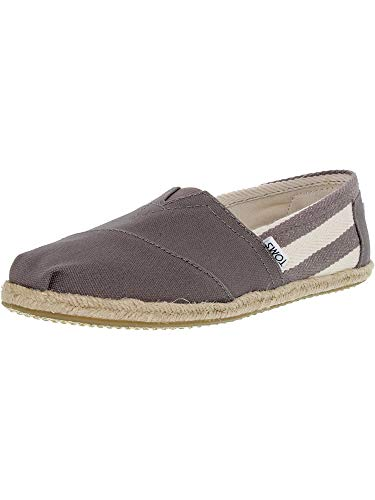 TOMS Women's Classics Dark Grey Stripe Canvas 11 B US B - Stripe Grey Canvas
