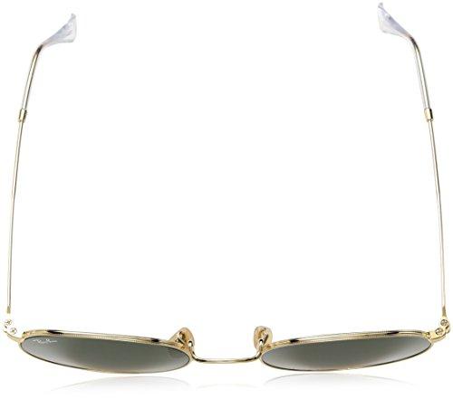 Oro sol de metal plano Ray de Oro Ban Gafas redondas Hombre IBxWqwHvqA