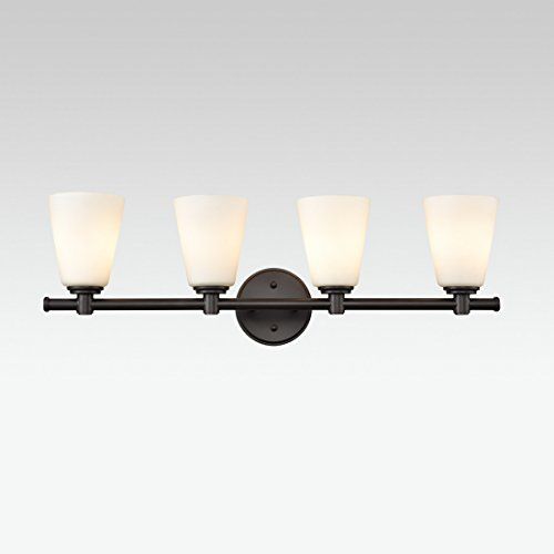 AXILAND Vanity Lighting 4 Light Oil Rubbed Bronze Wall Sconce with Opal Glass Shade by AXILAND (Image #6)