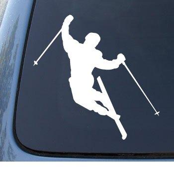 SKIER Downhill Skiing Vinyl Sticker