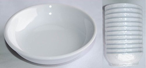 Z moments Melamine Soy Sauce Condiments Round Dishes Asia Style, 2-1/2