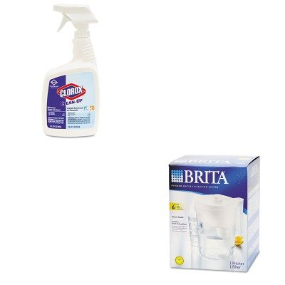 KITCOX35417EACOX35548 - Value Kit - Brita Classic Pour-Through Pitcher (COX35548) and Clorox Clean-Up Cleaner w/Bleach (COX35417EA) - Clorox Brita Classic Pitcher