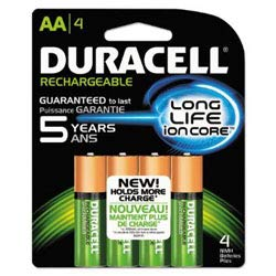 00B4N001 DURACELL NIMH RECHARGEABLE BATTERY 4 PACK 1.2 VOLT AA 2400MAH Rechargeable Battery ()