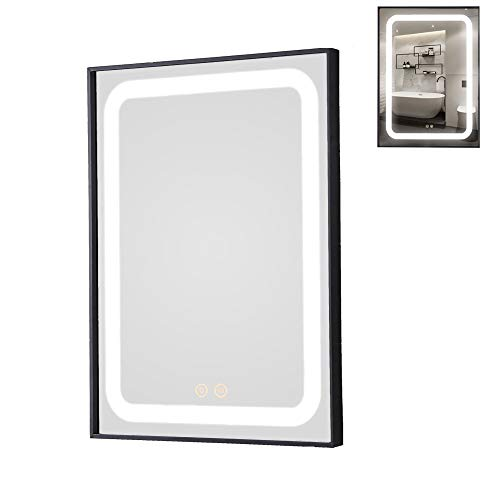 PetusHouse LED Bathroom Vanity Mirrors, 20in X 28in Smart Bathroom Wall Mount -