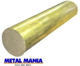 Brass round bar CZ121 30mm dia x 100mm