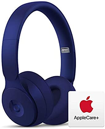 Amazon Com Beats Solo Pro Wireless Noise Cancelling On Ear Headphones Apple H1 Chip Dark Blue With Applecare Bundle