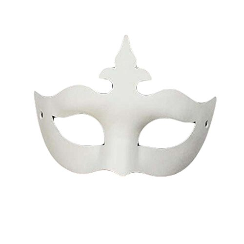 Set of 10 White Eye Mask Painting Mask DIY Paper Mask Halloween Mask (Diy Scary Halloween Masks)