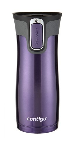 Contigo Autoseal West Loop Stainless Steel Travel Mug with Easy Clean Lid, Violet
