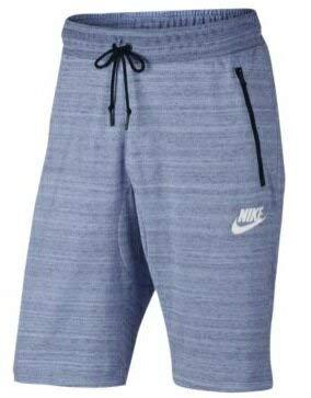 ナイキ メンズ Nike Advance 15 Knit Shorts ショーツ バスパン ハーフパンツ Aluminum Heather/White [並行輸入品] B07JYT39DP  S