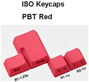 NPKC 4 Pieces Thick PBT ISO Keycaps Supplementary Keycaps for Kailh Gateron Cherry MX Switches of Mechanical Keyboard