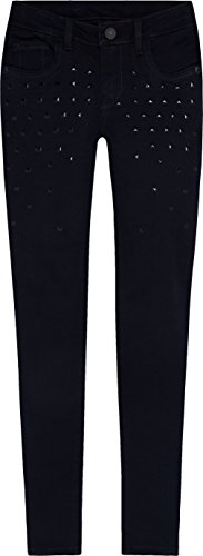 Levi's Big Girls' 710 Super Skinny Fit Embellished Jeans, Black Cove, 12