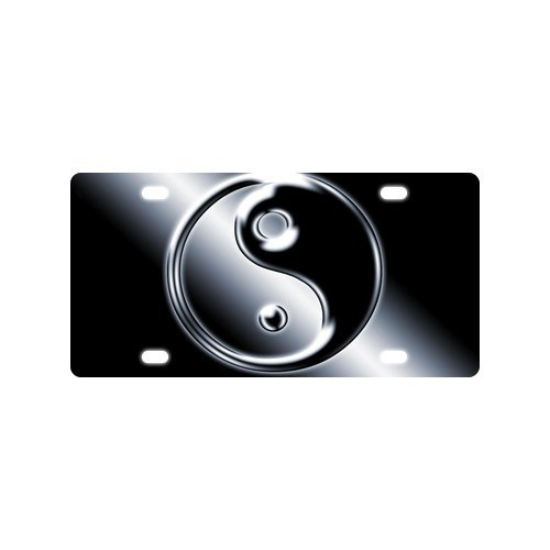 Fashion Design Yinyang the Eight Diagrams Design Mental Car License Plate With 4 Holes - 12