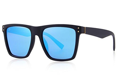 MERRY'S Polarized Sunglasses Men Women Retro Brand Sun Glasses UV 400 (Blue, 52)